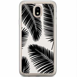 Casimoda Samsung Galaxy J7 2017 siliconen hoesje - Palm leaves silhouette