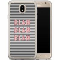 Casimoda Samsung Galaxy J7 2017 siliconen hoesje - Blah blah blah