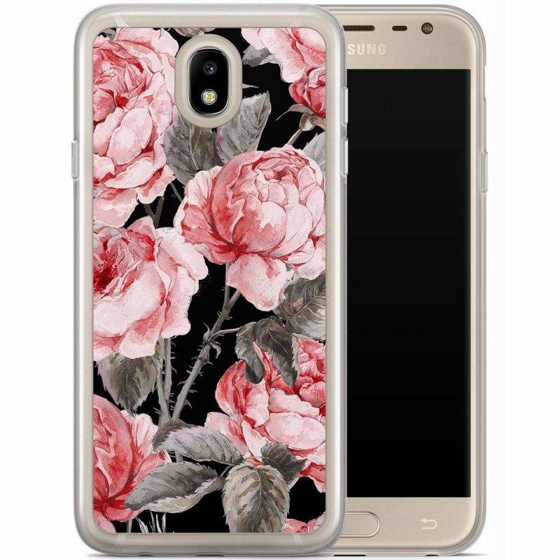 Casimoda Samsung Galaxy J7 2017 siliconen hoesje - Moody florals