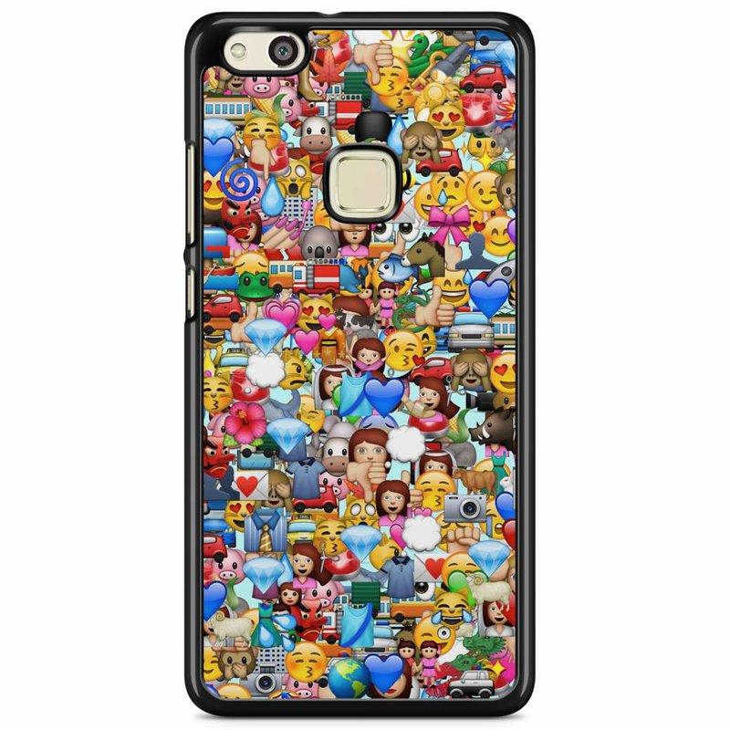 Huawei P10 Lite hoesje - Emoji collectie