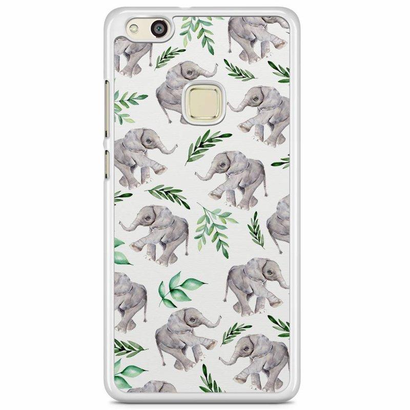 Huawei P10 Lite hoesje - Floral olifantjes