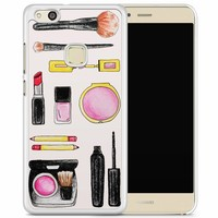 Huawei P10 Lite hoesje - Wake up and make up