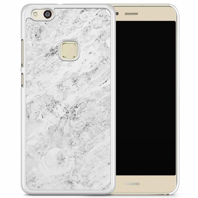 Huawei P10 Lite hoesje - Marmer grijs