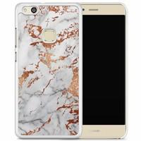 Huawei P10 Lite hoesje - Rose goud marmer
