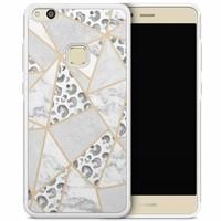 Huawei P10 Lite hoesje - Stone & leopard print