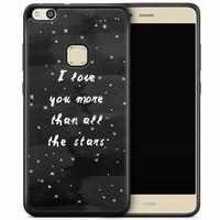 Huawei P10 Lite hoesje - Stars love quote