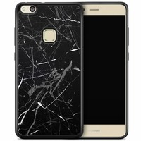 Huawei P10 Lite hoesje - Marmer zwart