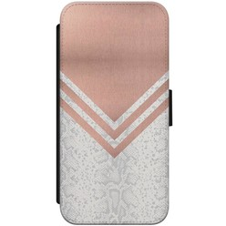 iPhone 8/7 flipcase - Rose gold snake