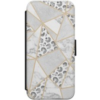 iPhone 7/8 flipcase - Stone & leopard