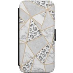 iPhone 8/7 flipcase - Stone & leopard