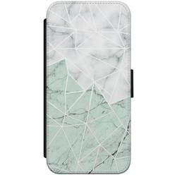 iPhone 8/7 flipcase - Marmer mint mix
