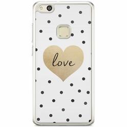Huawei P10 Lite siliconen hoesje - Love dots