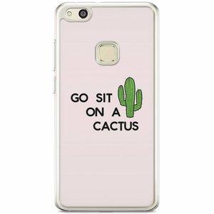 Casimoda Huawei P10 Lite siliconen hoesje - Go sit on a cactus