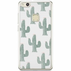 Huawei P10 Lite siliconen hoesje - Cactus print