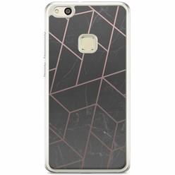 Huawei P10 Lite siliconen hoesje - Marble grid