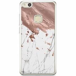 Huawei P10 Lite siliconen hoesje - Marble splash