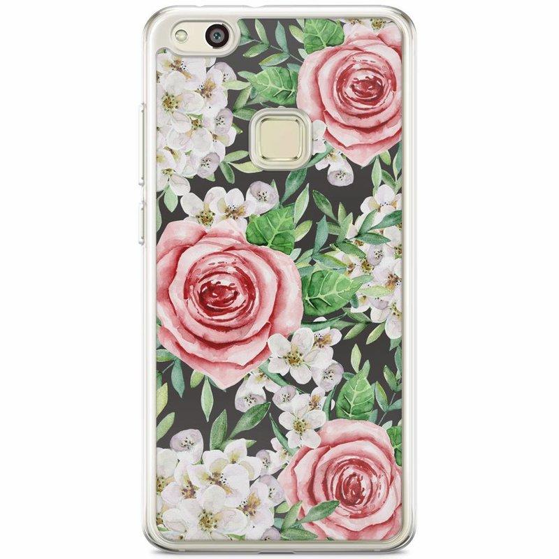 Casimoda Huawei P10 Lite siliconen hoesje - Rose story
