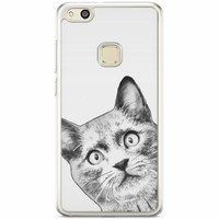 Casimoda Huawei P10 Lite siliconen hoesje - Kiekeboe kat