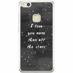 Casimoda Huawei P10 Lite siliconen hoesje - Stars love quote