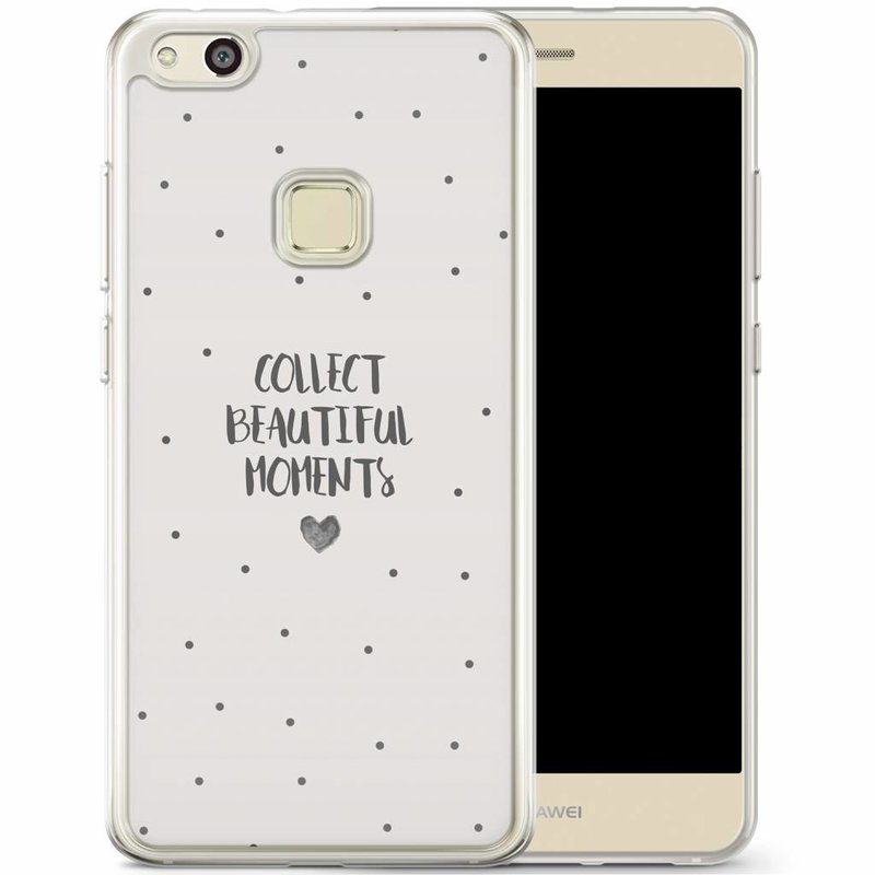 Casimoda Huawei P10 Lite siliconen hoesje - Collect beautiful moments