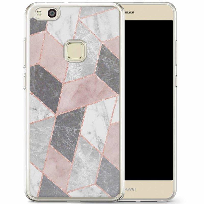 Casimoda Huawei P10 Lite siliconen hoesje - Stone grid