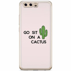 Casimoda Huawei P10 siliconen hoesje - Go sit on a cactus