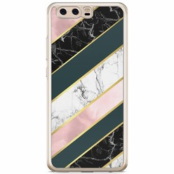 Huawei P10 siliconen hoesje - Marble stripes