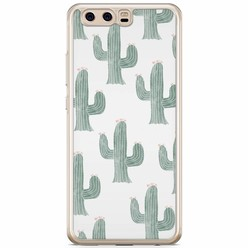 Huawei P10 siliconen hoesje - Cactus print