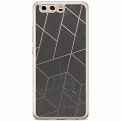 Huawei P10 siliconen hoesje - Marble grid