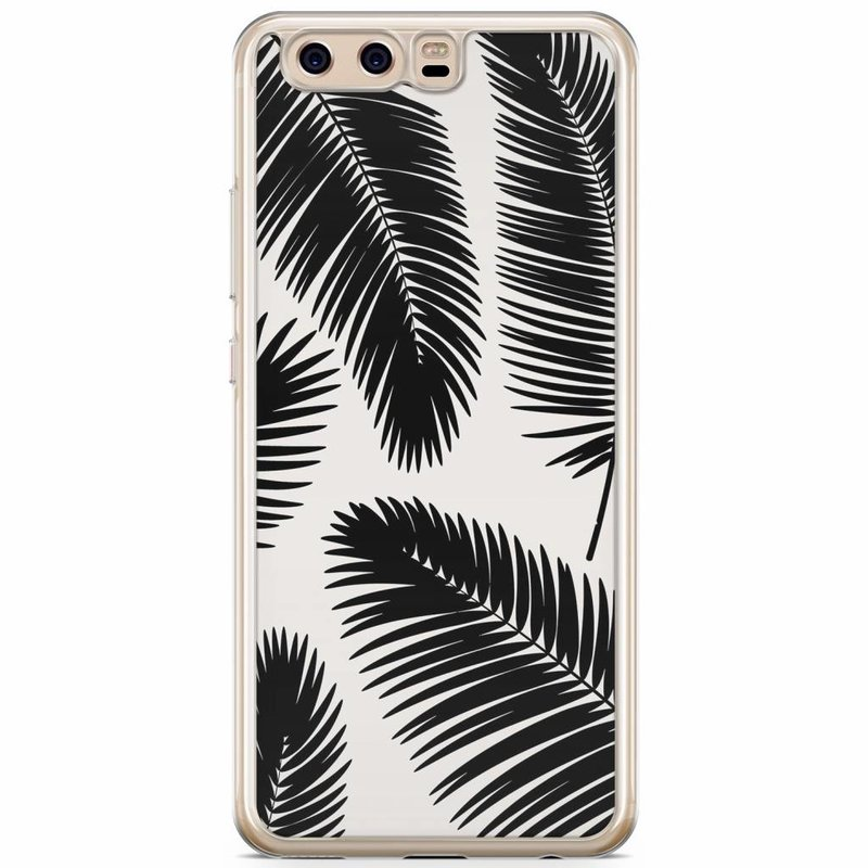 Casimoda Huawei P10 siliconen hoesje - Palm leaves silhouette