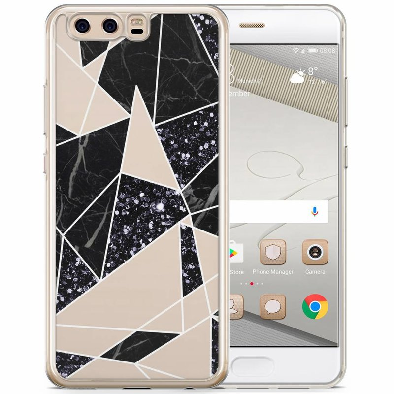Casimoda Huawei P10 siliconen hoesje - Abstract painted