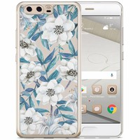 Casimoda Huawei P10 siliconen hoesje - Touch of flowers