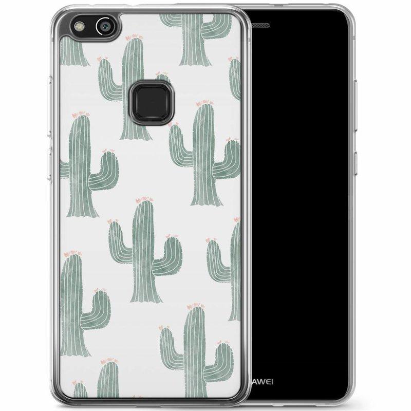 Huawei P10 Lite siliconen hoesje - Cactus print