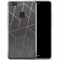 Casimoda Huawei P10 Lite siliconen hoesje - Marble grid
