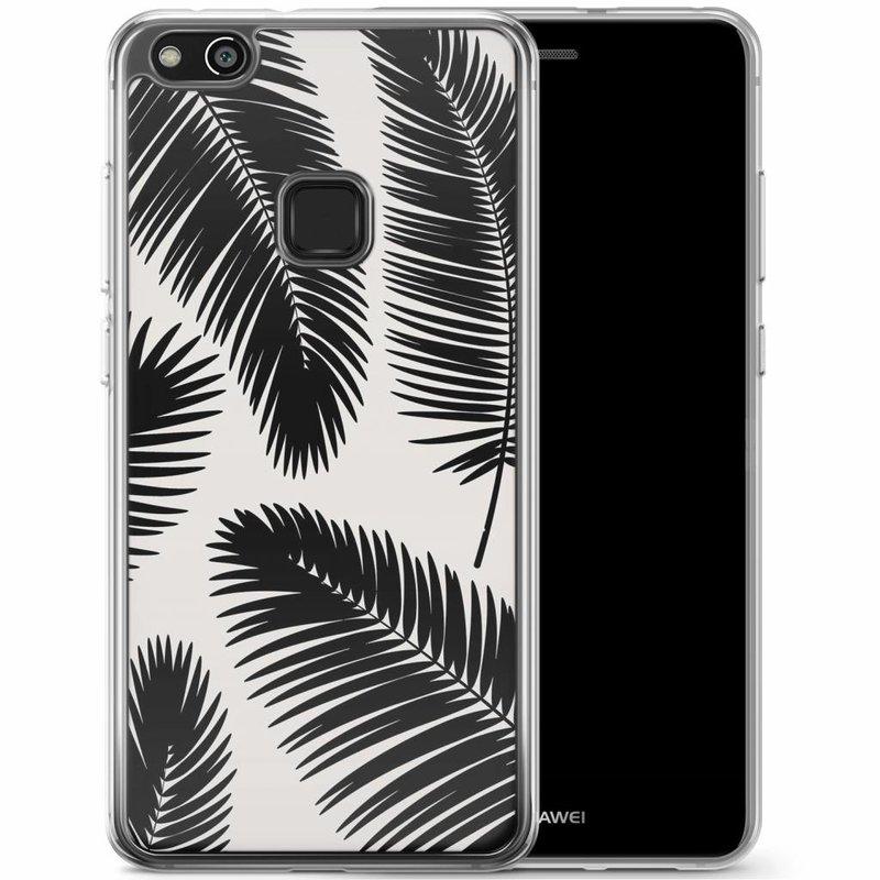 Casimoda Huawei P10 Lite siliconen hoesje - Palm leaves silhouette