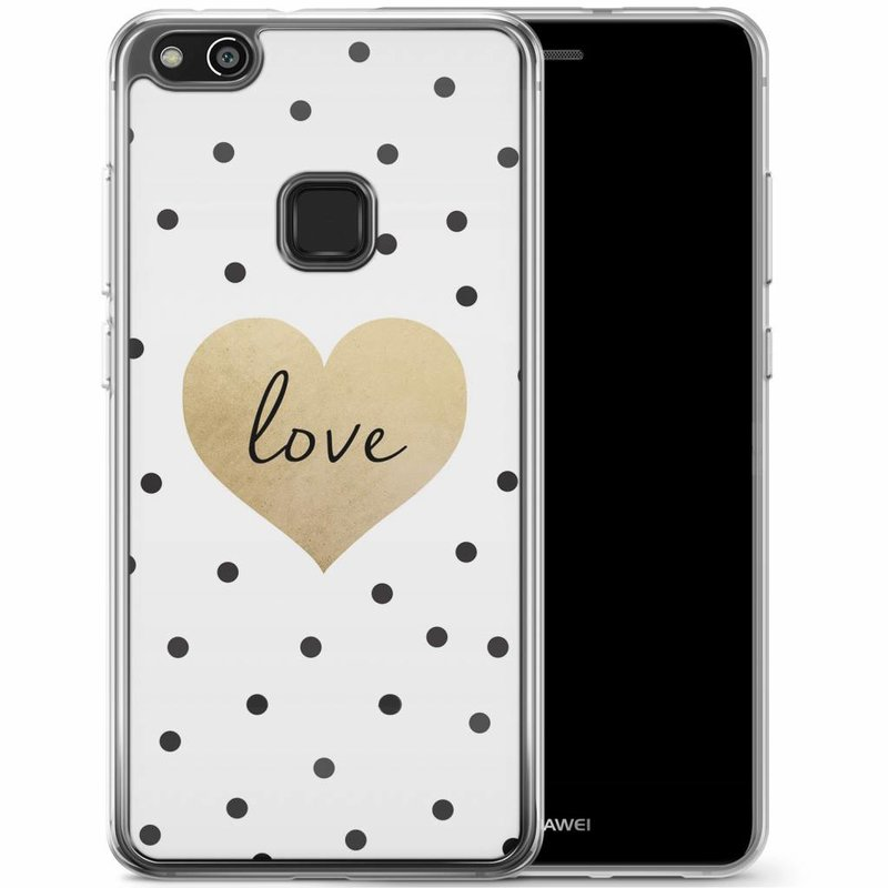 Casimoda Huawei P10 Lite siliconen hoesje - Love dots