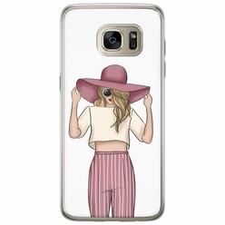 Samsung Galaxy S7 Edge siliconen hoesje - Summer girl