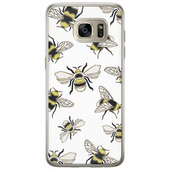Casimoda Samsung Galaxy S7 Edge siliconen hoesje - Queen bee
