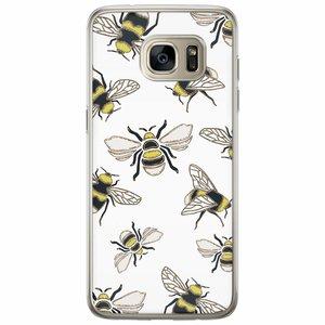 Casimoda Samsung Galaxy S7 Edge siliconen hoesje - Queen bee