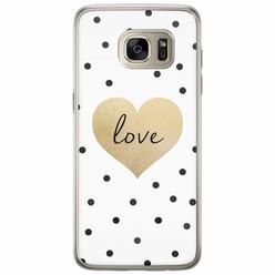 Samsung Galaxy S7 Edge siliconen hoesje - Love dots