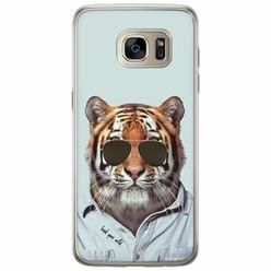 Samsung Galaxy S7 Edge siliconen hoesje - Tijger wild