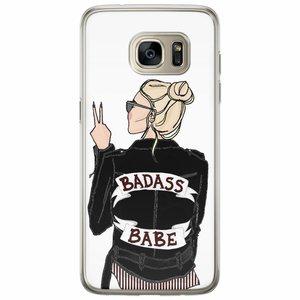 Casimoda Samsung Galaxy S7 Edge siliconen hoesje - Badass babe