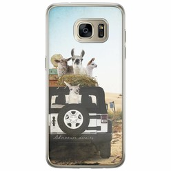Casimoda Samsung Galaxy S7 Edge siliconen hoesje - Adventure awaits