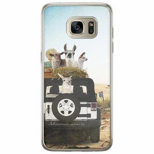 Casimoda Samsung Galaxy S7 Edge siliconen hoesje - Adventure awaits