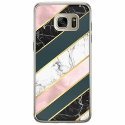 Samsung Galaxy S7 Edge siliconen hoesje - Marble stripes