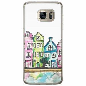 Samsung Galaxy S7 Edge siliconen hoesje - Amsterdam