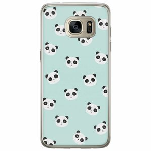 Casimoda Samsung Galaxy S7 Edge siliconen hoesje - Panda print