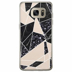 Casimoda Samsung Galaxy S7 Edge siliconen hoesje - Abstract painted