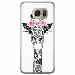 Samsung Galaxy S7 Edge siliconen hoesje - Giraffe