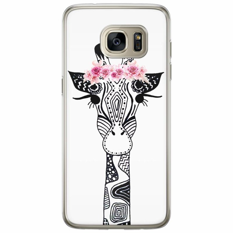 Casimoda Samsung Galaxy S7 Edge siliconen hoesje - Giraffe
